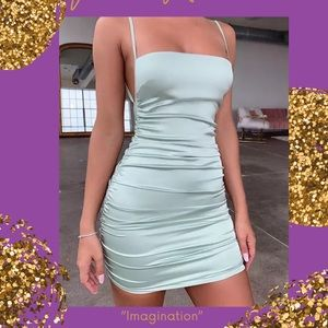 """Imagination"" silk, bodycon backless dress"
